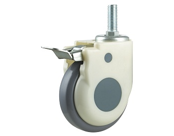 Medical Caster with TPR Rubber Wheel with Metal Pedal